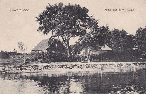 Alte Ansichtskarte - Partie auf dem Priwall
