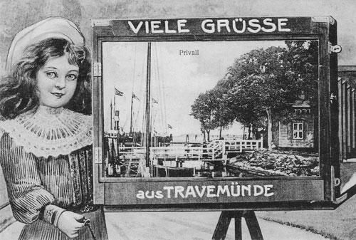 Alte Ansichtskarte - Viele Grüße aus Travemünde Priwall