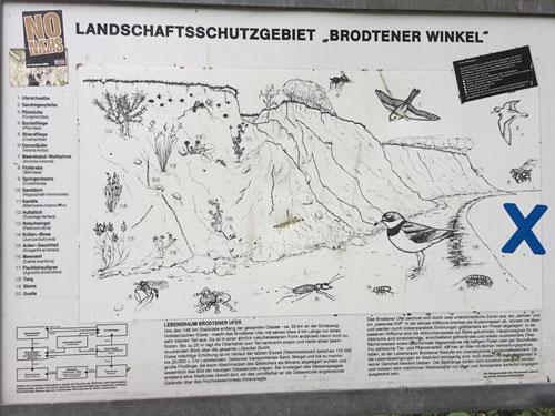 """Tafel Landschaftsschutzgebiet """"Brodtener Winkel"""""""