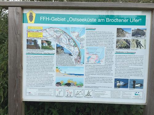 """Tafel - FFH-Gebiet """"Ostseeküste am Brodtener Ufer"""""""