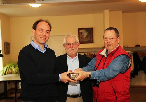 Kai Lüdicke mit Dr. Udo Ott und Karl Erhard Vögele