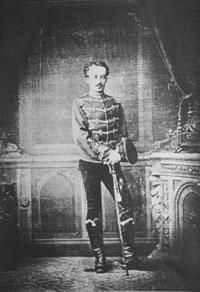 Emil Possehl in Husarenuniform