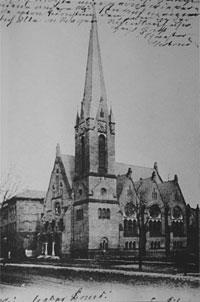 Matthäi Kirche mit Schule in Lübeck