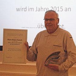 Bürgerpreisträger des Gemeinnützigen Vereins zu Travemünde e.V. 2015 - Hans-Peter Fasch