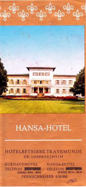 Hansa-Hotel Travemünde - Flyer