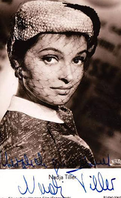 Nadja Tiller - Autogrammkarte