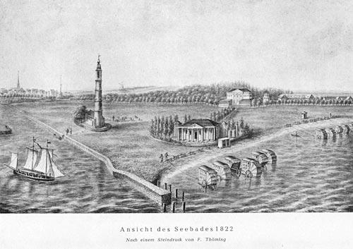 Ansicht des Seebades 1822