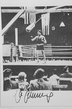 Max Schmeling beim Boxtraining