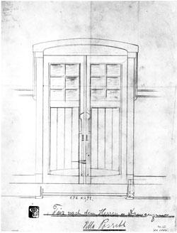 Tür nach dem Herren- und Damenzimmer